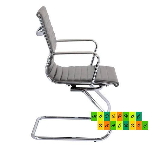 Кресло офисное Алабама Х  экокожа, цвет серый