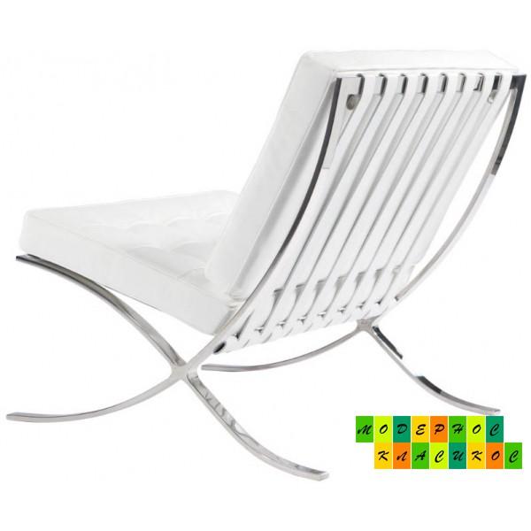 Кресло Барселона, экокожа, цвет белый