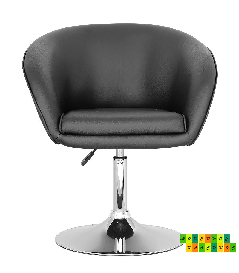 Кресло Мурат, хром, экокожа черная