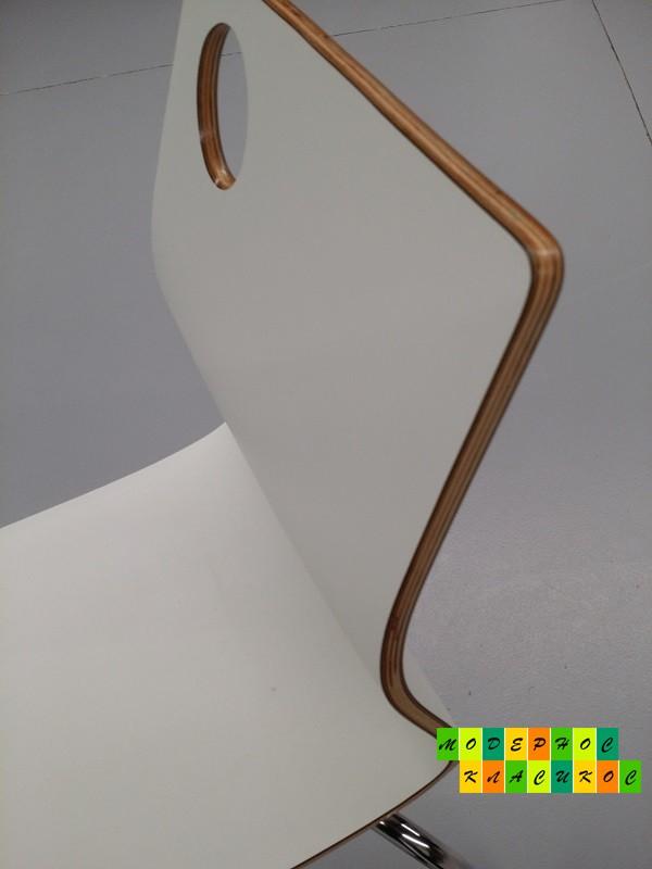 Стул деревянный Хорека-W, гнутоклееная фанера, цвет белый