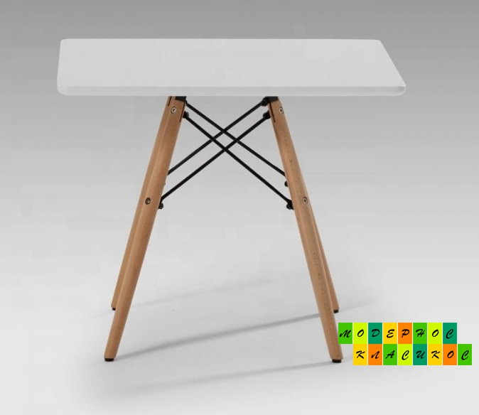 Стол Алор Small, журнальный, дерево бук, квадратный, цвет белый