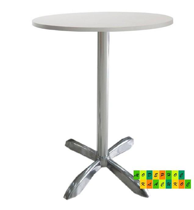 Стол барный Амелия-R, круглый, столешница белая, 73 см