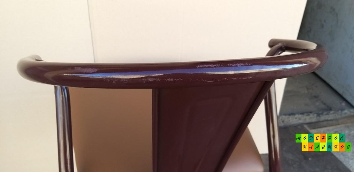 Стул Энди, металл, кожзам, цвет коричневый
