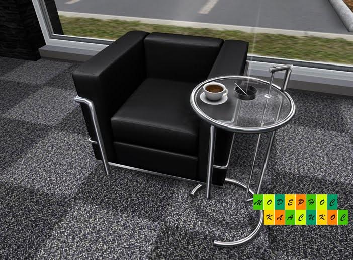 Стол журнальный ЭГ, дизайнерский, стеклянный, регулируется по высоте