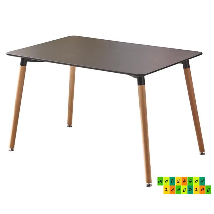 Стол Нури, деревянный, 120*80 см, цвет черный