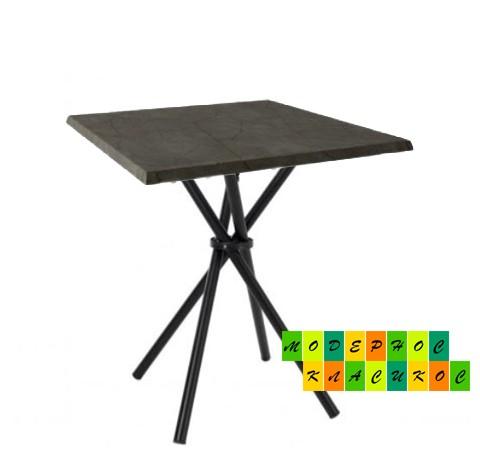 Стол Крос70SBL квадратный 70*70 см