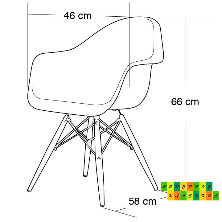 Кресло Тауэр Вуд, акриловый, прозрачный цвет, ножки деревянные, бук