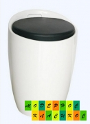 Пуф Мари, пластиковый, цвет белый, мягкая подушка черного цвета