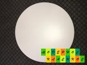 Столешница Кипр, круглая, толщина 25 мм, диаметр 60 см, цвет белый