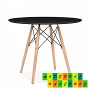 Стол обеденный Тауэр Вуд, дерево, столешница дерево, цвет черный