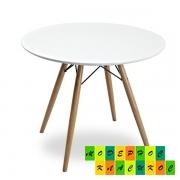 Стол обеденный Тауэр Вуд, столешница дерево, цвет белый