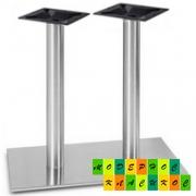 Опора для стола Тефу, нержавеющая сталь, высота 72 см, внизу 40*70 см