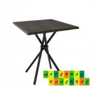 Стол Крос60SBL квадратный 70*70 см