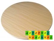 Столешница Кипр, круглая, толщина 25 мм, диаметр 60 см, цвет натуральный дуб